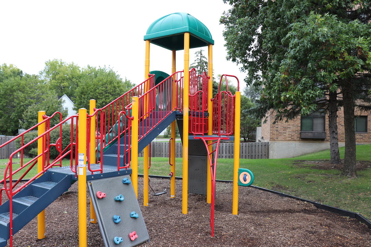 Residents say the playground is great for younger families when they visit.