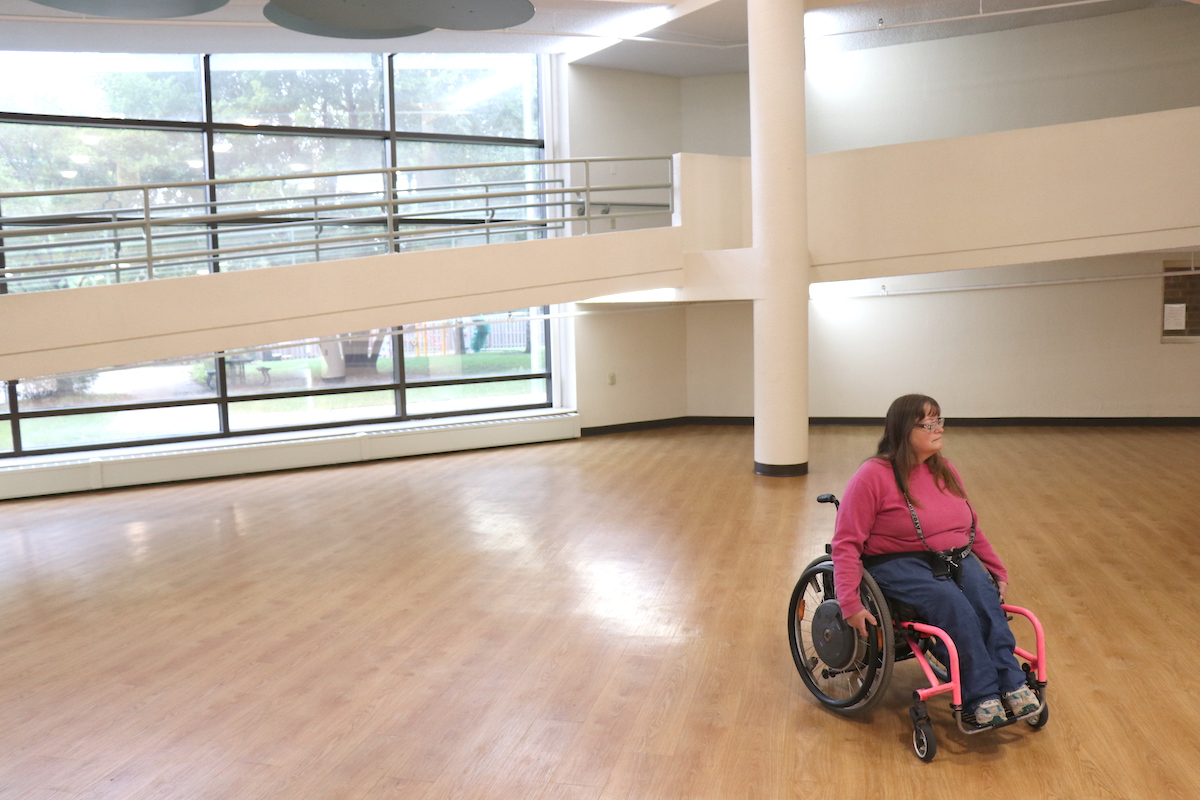 Lewis Park was built specifically for the disabled. It features wheelchair accessible ramps from the lobby to the top floor of the building.