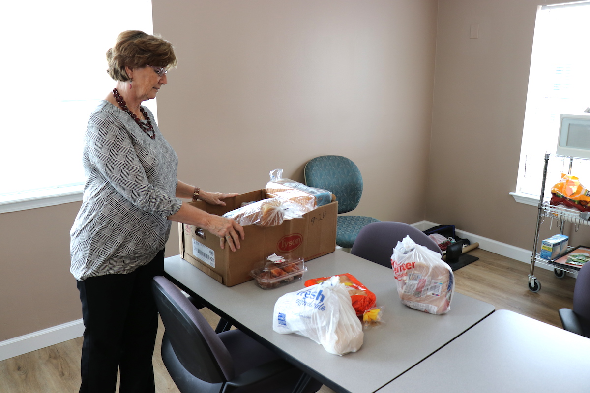 Some of our residents do not have transportation. Once a month, our team goes to the local food bank and transports food boxes to Northwinds. Management at The Northwinds delivers these food boxes to the homebound and elderly.