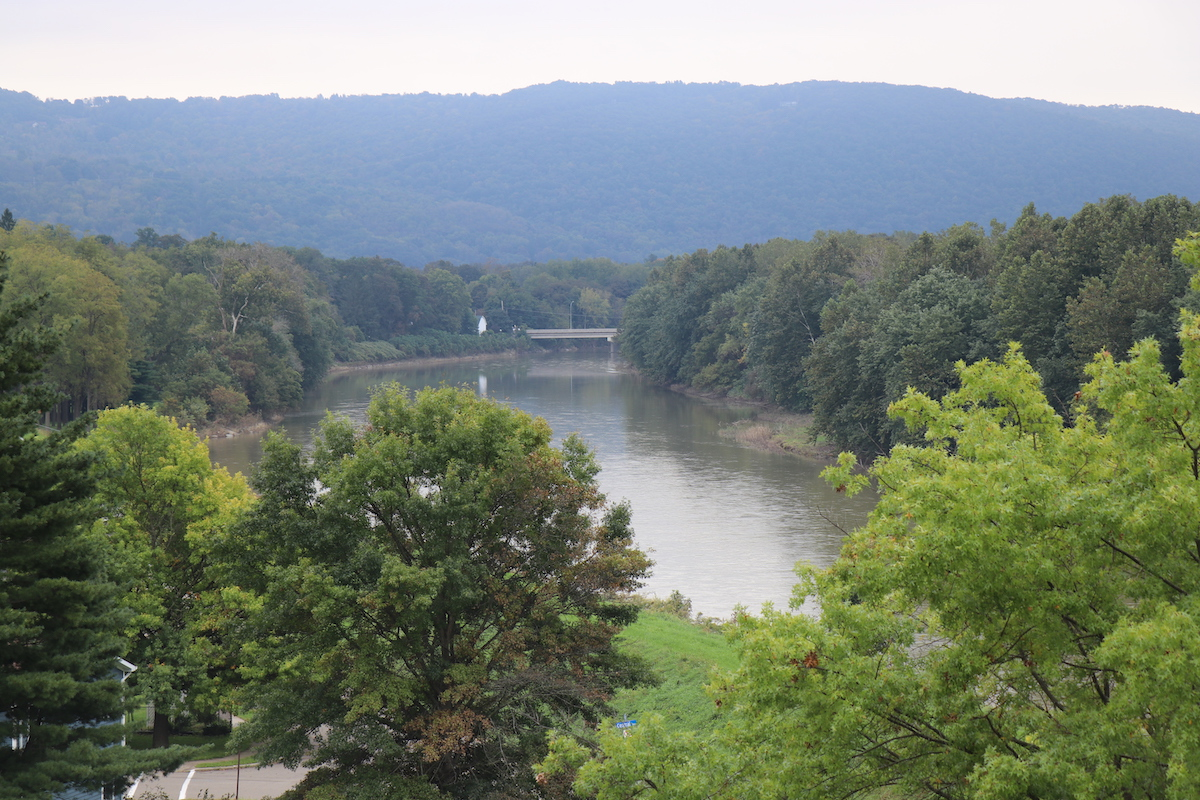 The property sits on the banks of the Chemung River. In the distance, you can see a fork in the river where the Susquehanna River joins the Chemung. In 2011, the Susquehanna experienced a historic flood and water swamped the town of Athens.  Chemung View took on nearly 6 feet of water during the flood.