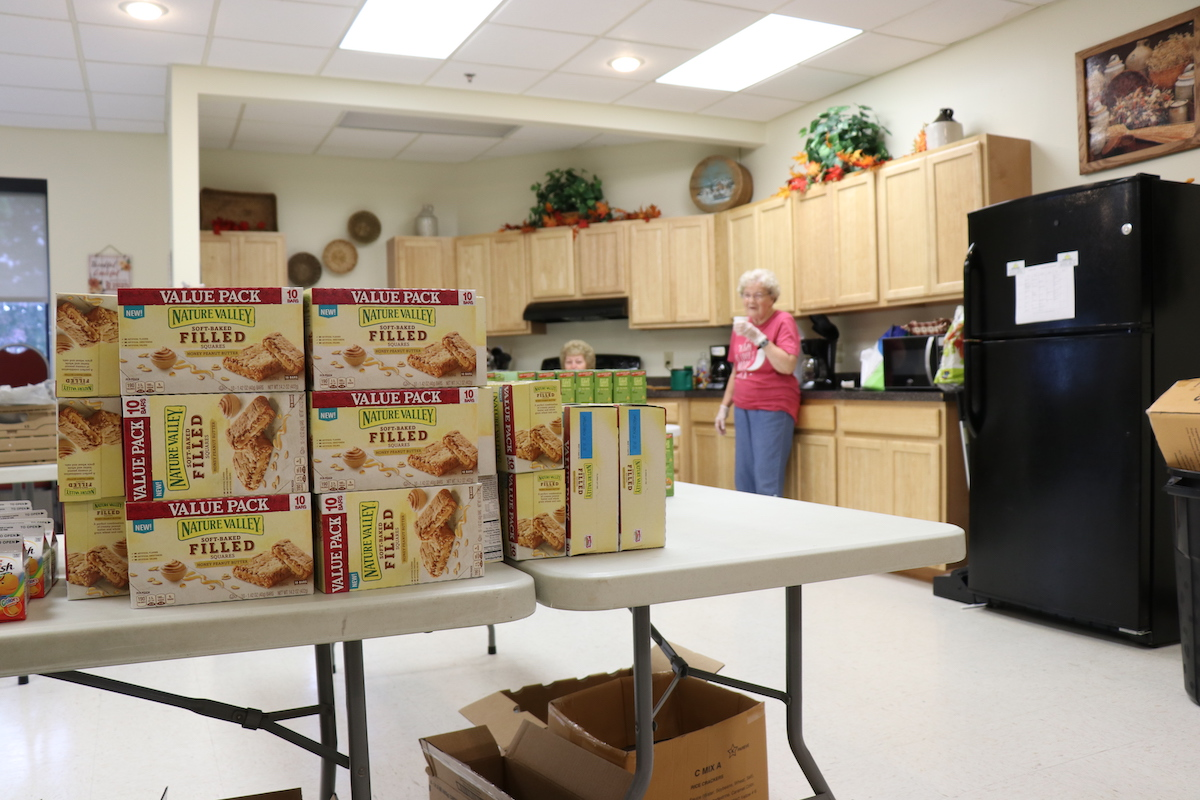 Residents of Chemung View volunteer their time to deliver meals to their neighbors.