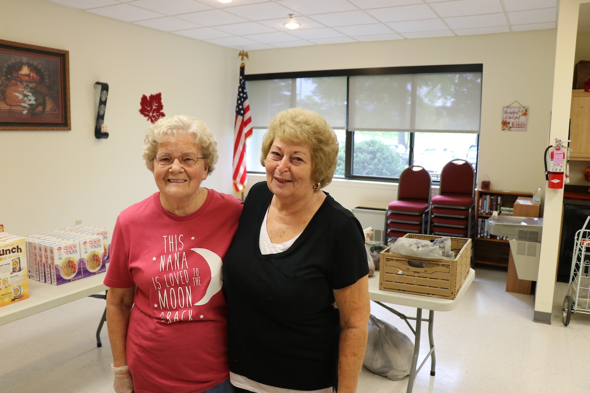 "(Leona-L and Nanette-R) both live on the 5th floor. They say they enjoy all the community activities at Chemung View.  ""People are nice. It's affordable. We have a lot of things going on here. I feel part of a community here,"" Nanette said."
