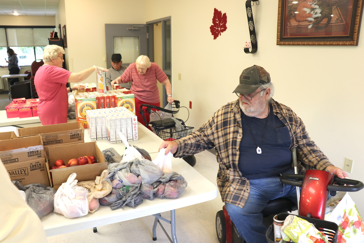 The local Food Bank regularly delivers food to the residents of Chemung View.