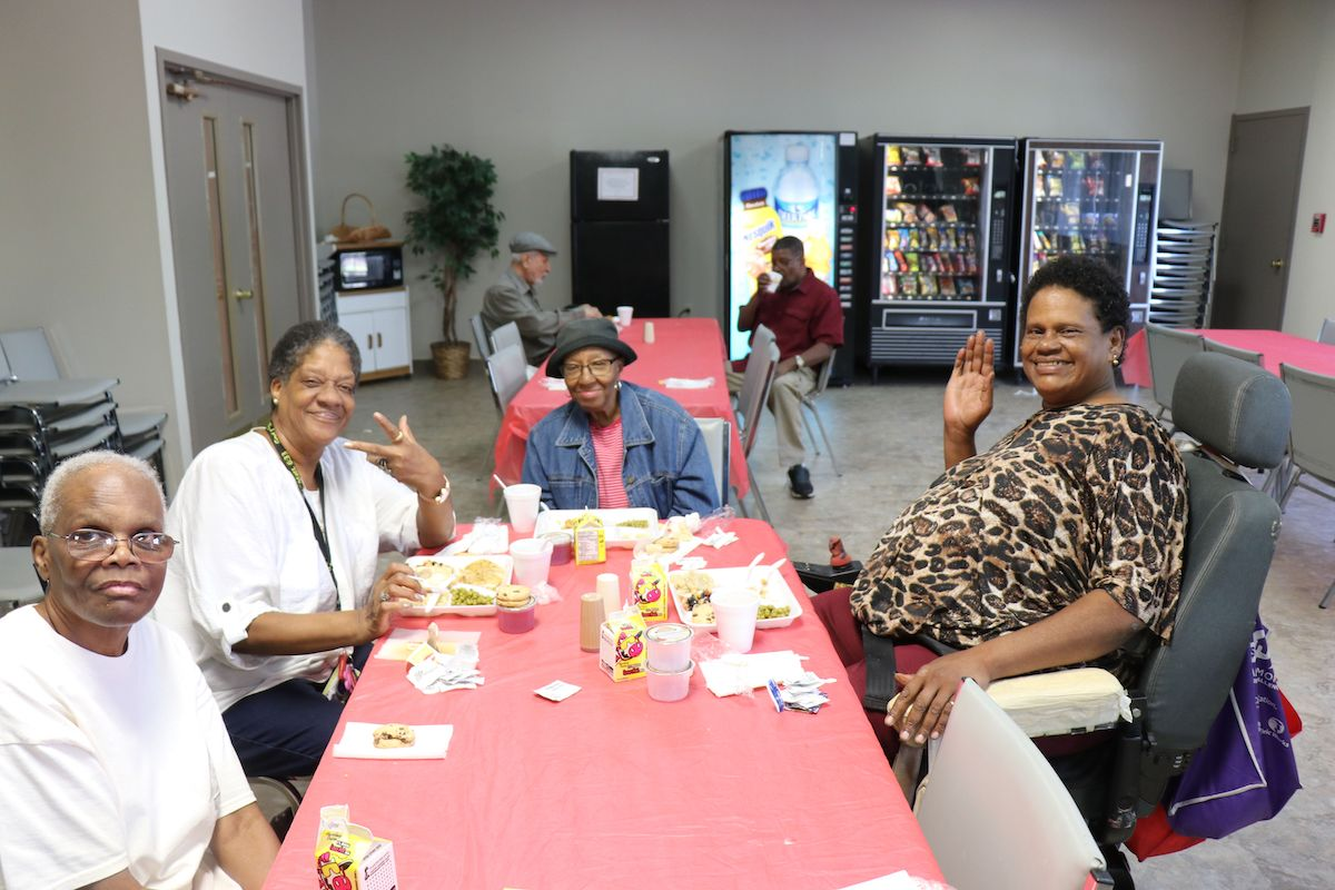 "Residents of Apostolic Towers come together regularly, whether it be for worship at the church inside the property or in their community room  for their ""Eating Together"" program."