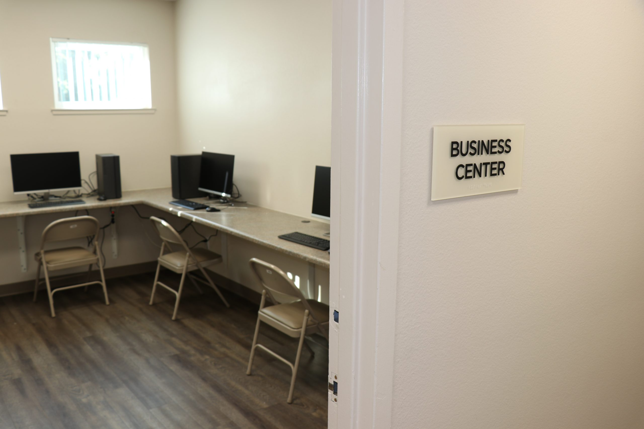 The remodeled Community Building features a Business Center. All residents of Watts Arms are provided with access to free Wi-Fi service.