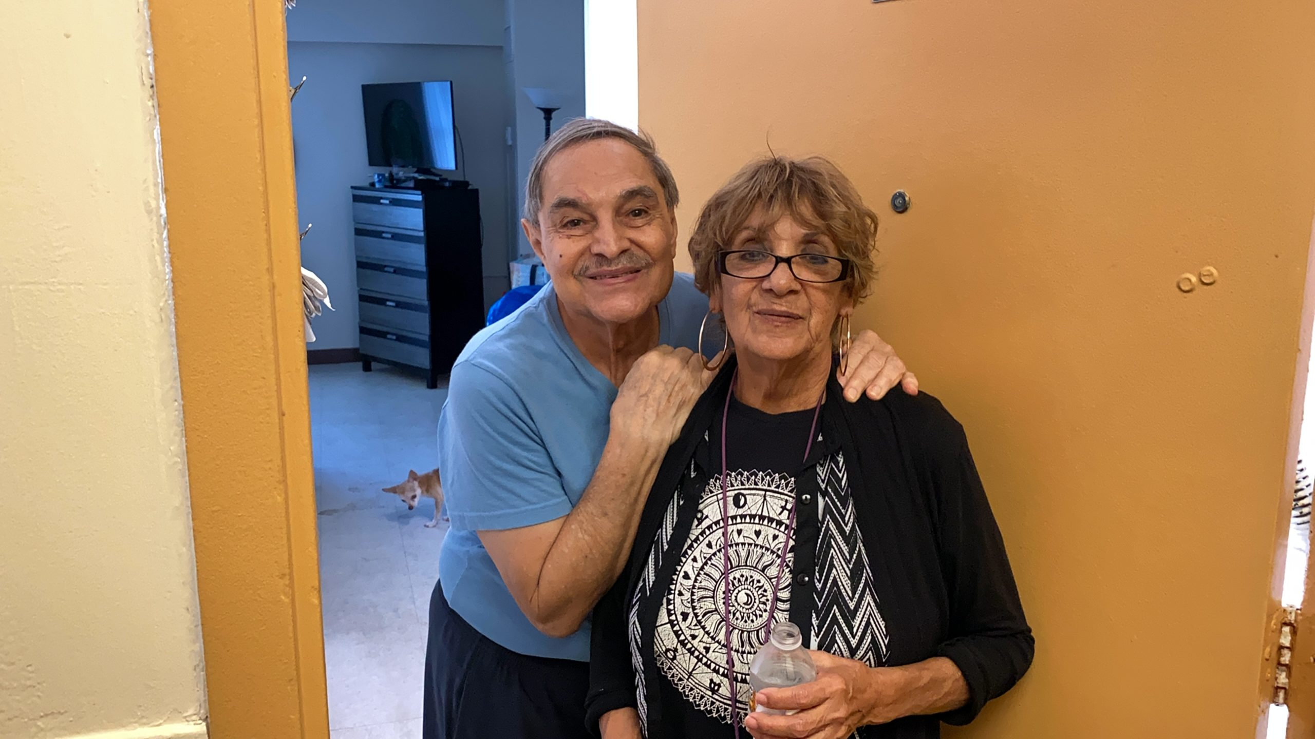 """""""I thank God every day for being here,"""" Priscilla Martinez said when reflecting on her life at Four Freedoms House in Miami Beach. She lives on low income and says the affordability of her home is a blessing."""